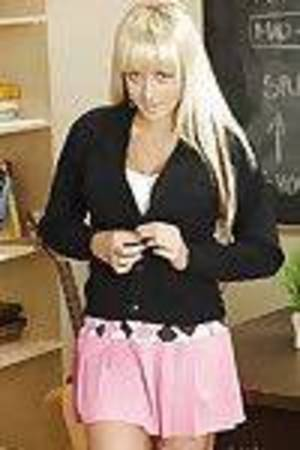 Briana Blair preparing for school and showing her yummy forms