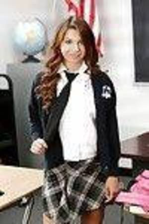 Diminutive tits schoolgirl Ariana Winsome is expanding her legs in a uniform