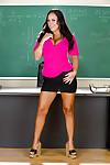 Sweaty latin cutie schoolgirl in miniskirt Mariah Milano striptease in brand