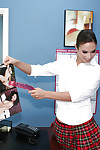 Good-looking youthful Amber Rayne banging with her pretty boss