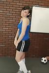 Gorgeous dark brown cutie with short hair Brooke Adams undressing