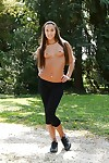 Sportive model Amirah Adara swelling palatable booty outside