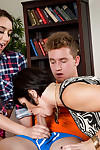 Old and young lesbos Shay Fox and Mandy Muse upload vast cock in FFM Trinity