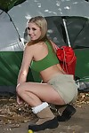 Boobsy youthful in underclothing Oklahoma removes clothes and masturbates in the tent camp