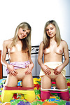 Sexual teen-age lesbian chicks have some carpet munch and toying satisfaction