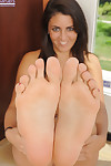 Foxy young Bella Luciano revealing her seductive distorts and cute soles