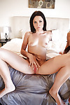 Undressing scene from dark brown lesbian chicks Brooklyn Daniels and Gianna Nicole