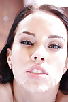 Teen beauty Megan Rain giving POV bj and orally fixating jizz flow