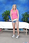 Fuckable infant angel in jeans shorts uncovering her fascinating turns