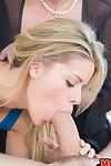Swanky golden-haired milf Jennifer Most excellent and youthful Jennifer Most excellent got gigantic dick.