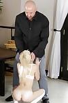 Adolescent pornstar Piper Perri giving thick knob fellatio on knees