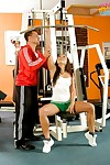 Fit youthful bombita Gioia Biel getting screwed in the gym and engaging