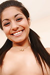 Youthful Latin chico Ruby Rayes is erotic dancing to jack off her holes
