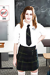 Slight infant solo beauty Alaina Dawson disrobes off schoolgirl uniform