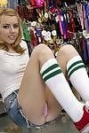 Adolescent beauty Lexi Belle shows her tacky butt and good love bubbles at plow