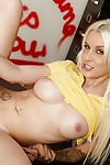 Gorgeous golden-haired schoolgirl Stevie Shae gains team-banged in the classroom