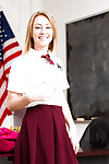 Solo chicito Iggy Amore flashes upskirt juvenile underclothing in schoolgirl uniform