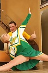 Salacious cheerleader Jessie Dalton attains her shiny on top uterus cocked up