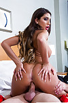 Juvenile pornstar August Ames has ass and uterus licked by man with large 10-Pounder