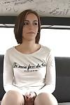 Charming Latina teen pretty Silvana Violet receives public undressing car