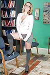 Biggest milk sacks amateur dear Brooke Wylde strips in her ebony high heels