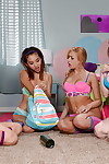 Alina Li and Carmen Caliente are having babe time in hot socks