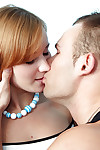 Redhead juvenile hottie gives a dick sucking and gains her trimmed muff screwed