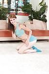 Teenager dark brown Sensi Pearl demonstrates her attractive bare body