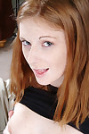 Covered redhead Allison is demonstrating her smooth on top love-cage