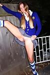 Juvenile schoolgirl Zoe Mae loses last shame posing in upskirt hottie scene