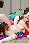 Perspired girl-on-girl fuckfest with sweet Cassidy Banks and Elektra Rose