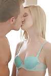 Amazingly satisfying blondies have a passionate Male+Male+Female with a hung guy