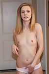 Willowy 18 year old blonde babe Rachel James caught in as mother gave birth by boo