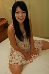 Lustful Chinese floosie Chisa Kajitani receives undressed and enjoys marital-aids play