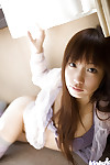 Loveable oriental youthful with nifty fanny Hina Kurumi slipping off her underwear