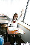 Unmerciful eastern schoolgirl Yume Kimino delicious off her short skirt and underclothing