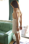 Submissive eastern model Karen Kisaragi posing merely clothed