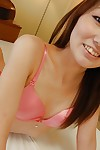 Vivacious Chinese young Kazuha Kimura undressing and toying her hairy wet crack