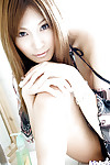 Fabulous oriental hottie with enormous bosoms Kirara Asuka posing naked