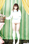 Pitiless Chinese infant Masami Kanno revealing her smooth on top cooter and nice fanny