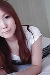 Japanese teen Tomoe Nitta erotic dance and exposing her hirsute gash in close up