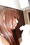 Sexually aroused oriental infant with petite apples Aiko Kondo gives head and gains owned