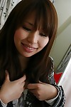 Foxy eastern young Arisa Tsuji has some vagina toying and fingering fun