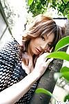 Eastern model Reina Mizuki showcasing her mini fanny and curly muff