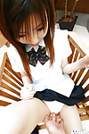 Servant Chinese schoolgirl undresses and bonked doggie-style
