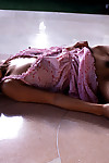 Sweet Chinese infant princess Madoka Ozava erotic dancing and posing on the sofa