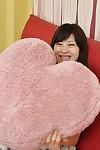 Frisky oriental teen Aki Tajima gets involved admires pussy toying activity