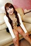 Smiley Japanese princess Shiho Nakagawa undressing and stretching her legs