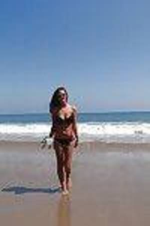 Enticing adolescent teen Whitney has some joy at the beach with her man