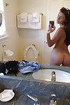 Raunchy girlfriend Whitney takes images of her sodden body by herself